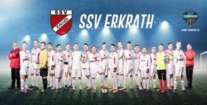 Cooles Mannschaftsfoto des Fußballvereins SSV Erkrath bei Düsseldorf