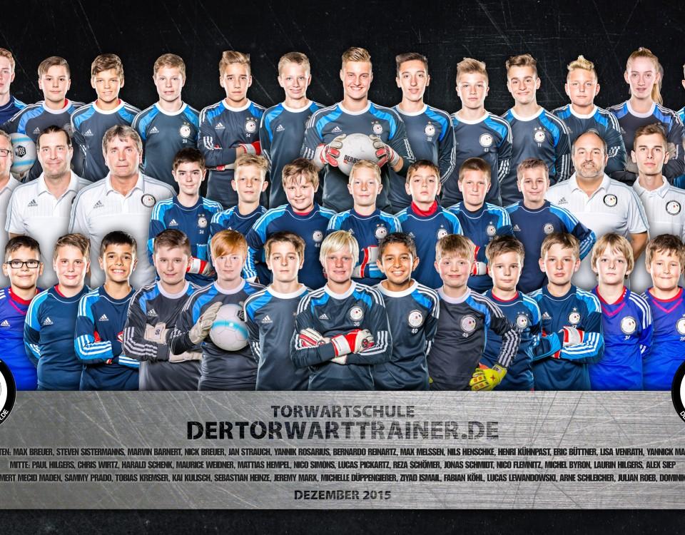 Torwartschule Fußball Mannschaftsfoto dertorwartrainer.de