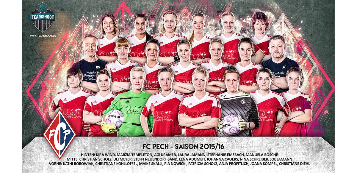 Fußball Mannschaftsfoto Damenmannschaft FC Pech