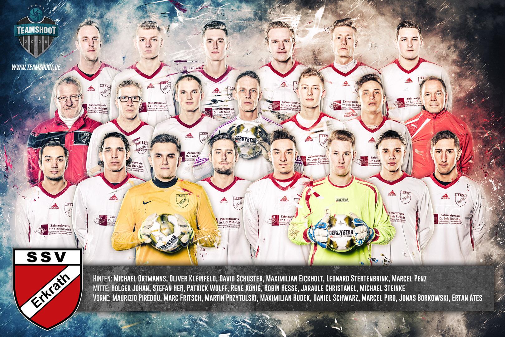 Professionelles Mannschaftsfoto des SSV Erkrath - Fußball Fotograf in Düsseldorf