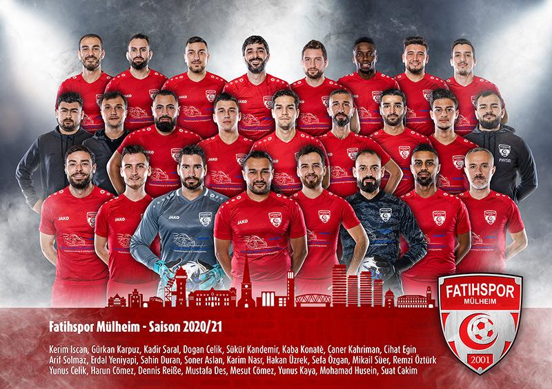 Mannschaftsfoto einer Fußballmannschaft